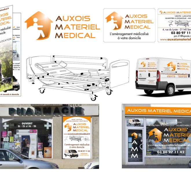 Communication globale pour Auxois Matériel médical par Kreastyl Communication