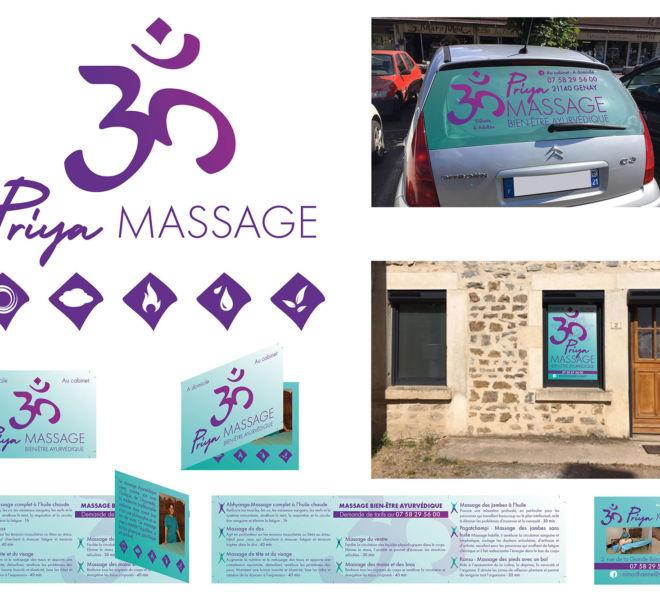 Communication globale pour Prija massage par Kreastyl Communication