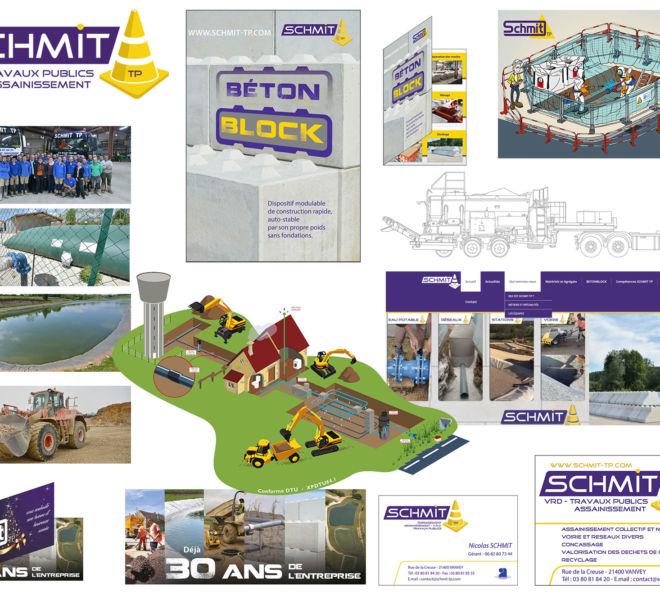 Communication globale pour SCHMIT TP par Kreastyl Communication