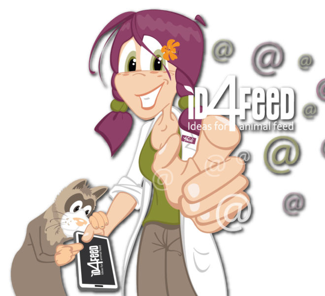 Mascotte Heidi pour ID4FEED par Kreastyl Communication