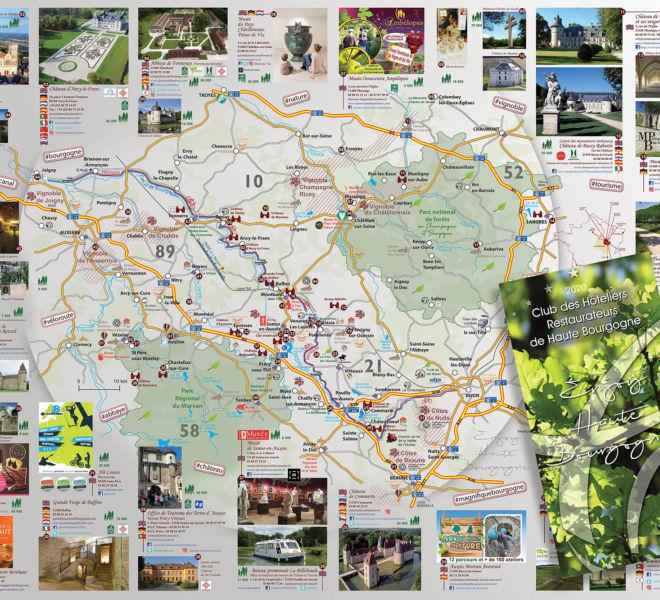 Cartographie pour le club des hôteliers restaurateurs de haute bourgogn par Kreastyl Communication