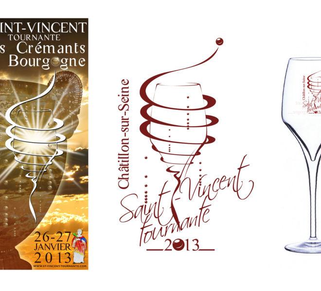 Logo et affiche de la Saint-Vincent tournante 2013 par Kreastyl Communication