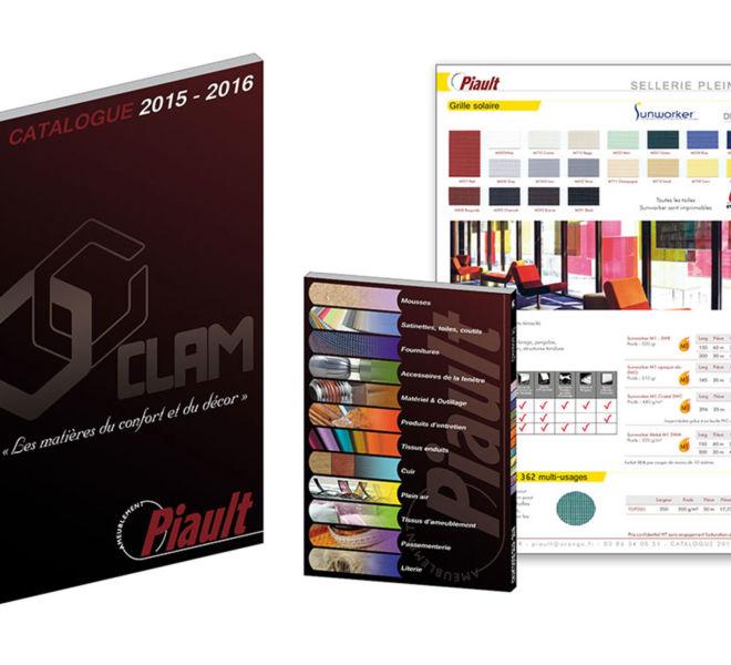 Montage catalogue produits Piault Ameublement par Kreastyl Communication