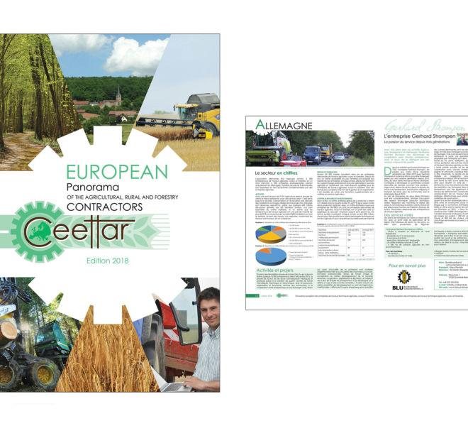 Brochure CEETTAR confédération européenne des entrepreneurs de travaux techniques agricoles, ruraux et forestiers par Kreastyl Communication
