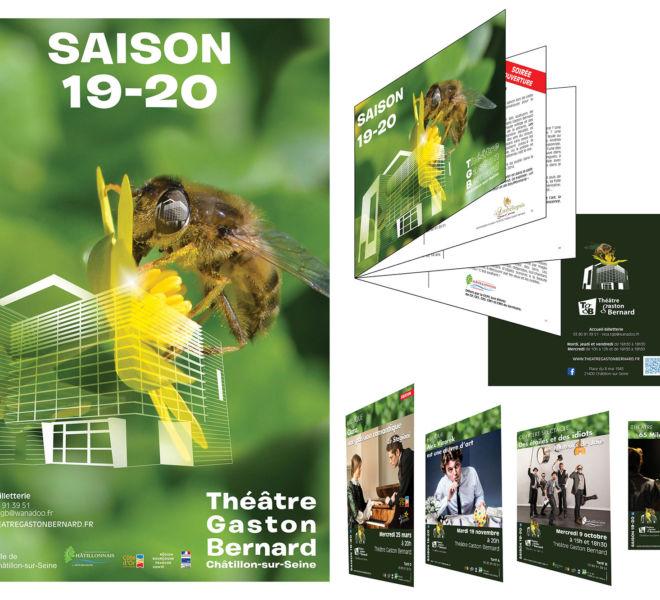 Le programme du Théâtre Gaston-Bernard à Châtillon sur Seine par Kreastyl Communication