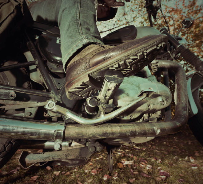 Photo motard effet vintage par Kreastyl Communication