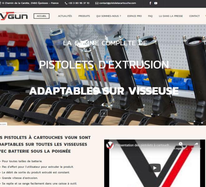 Alpha Industrie a fait confiance à Kreastyl communication pour créer le site marchand de ses pistolets à cartouche VGUN