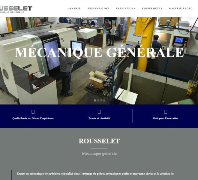 L'entreprise Rousselet mécanique générale à Saint-Rémy-les-Montbard a fait confiance à Camille Garcia, partenaire de Kreastyl Communication pour créer son site vitrine