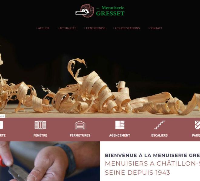 la menuiserie Gresset à Châtillon-sur-Seine a fait confiance à Camille Garcia, partenaire de Kreastyl Communication pour créer son site vitrine