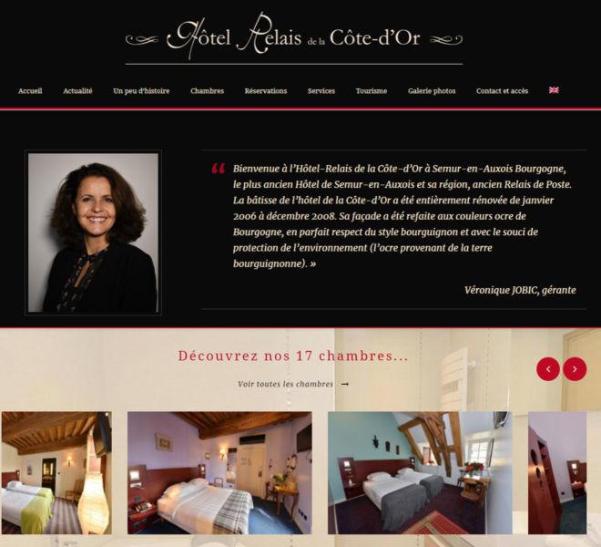 L'hôtel de la Côte-d'Or à Semur-en-Auxois a fait confiance à Camille Garcia, partenaire de Kreastyl Communication pour créer son site vitrine