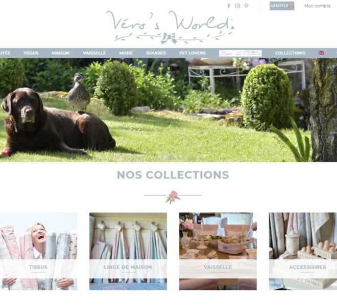 VERO'S WORLD a fait confiance à Kreastyl Communication pour créer son site e-commerce
