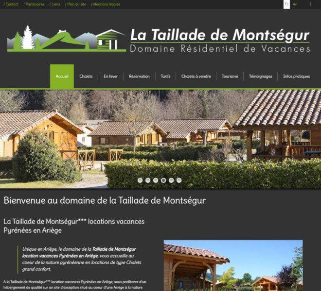 La Taillade de Montségur, domaine résidentiel de vacances dans les Pyrénées, a fait confiance à Kreastyl communication pour son site internet