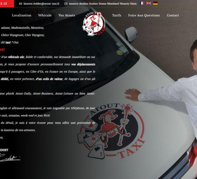 Atout taxi, artisan taxi à semur en auxois, a fait confiance à Camille Garcia, partenaire de Kreastyl communication pour son site internet et sa communication globale